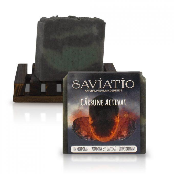 sapun detoxifiant carbune activ saviatio